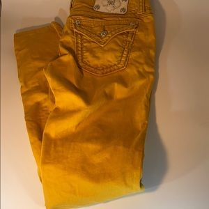 Miss me jeans 32 x 30 mustard color